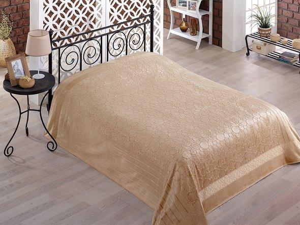 Махровая простынь-покрывало-одеяло Pupilla GOBEL махра бамбук (бежевый) 200*220, фото, фотография