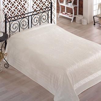 Махровая простынь-покрывало-одеяло Pupilla GOBEL махра бамбук (кремовый)