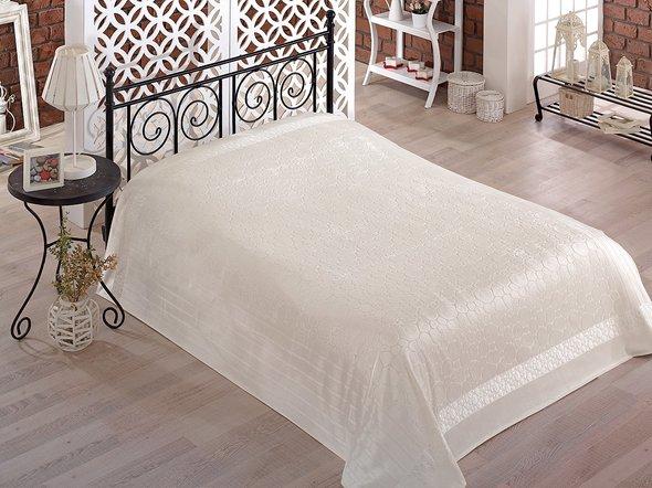 Махровая простынь-покрывало-одеяло Pupilla GOBEL махра бамбук (кремовый) 200*220, фото, фотография