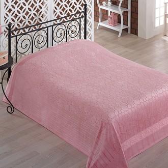 Махровая простынь-покрывало-одеяло Pupilla GOBEL махра бамбук (грязно-розовый)