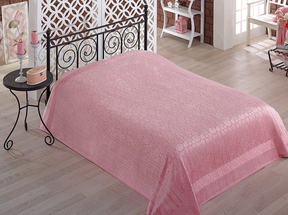 Махровая простынь-покрывало-одеяло Pupilla GOBEL махра бамбук (грязно-розовый) 200*220, фото, фотография