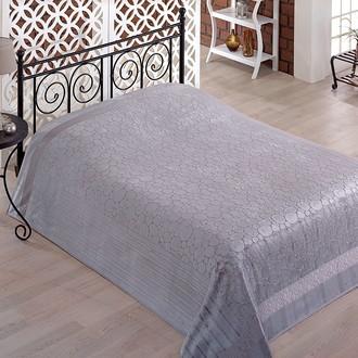 Махровая простынь-покрывало-одеяло Pupilla GOBEL махра бамбук (серый)