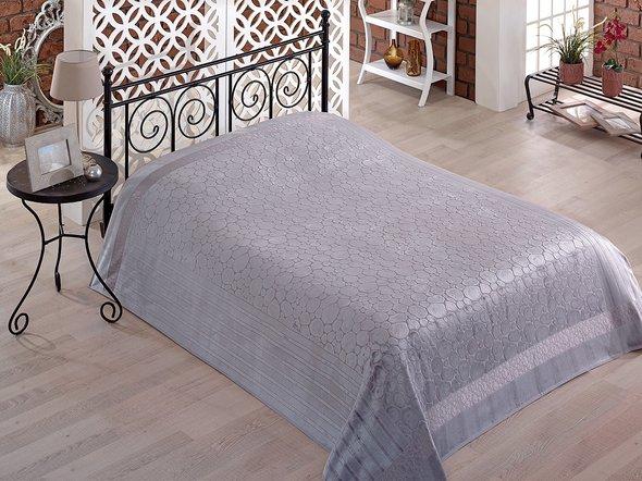 Махровая простынь-покрывало-одеяло Pupilla GOBEL махра бамбук (серый) 200*220, фото, фотография