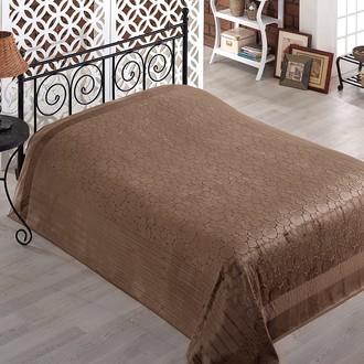 Махровая простынь-покрывало для укрывания Pupilla GOBEL махра бамбук (коричневый)