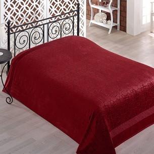 Махровая простынь-покрывало для укрывания Pupilla GOBEL махра бамбук бордовый 200х220