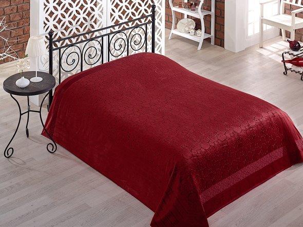 Махровая простынь-покрывало-одеяло Pupilla GOBEL махра бамбук (бордовый) 200*220, фото, фотография