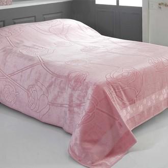 Махровая простынь-покрывало-одеяло Pupilla ROSE махра бамбук (розовый)