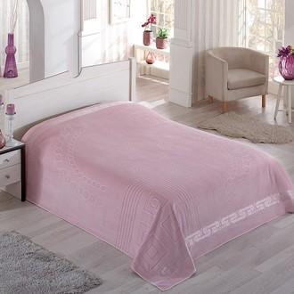 Махровая простынь-покрывало-одеяло Pupilla SORTI махра хлопок (грязно-розовый)