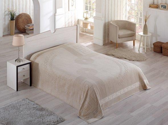 Махровая простынь-покрывало-одеяло Pupilla SORTI махра хлопок (бежевый) 200*220, фото, фотография