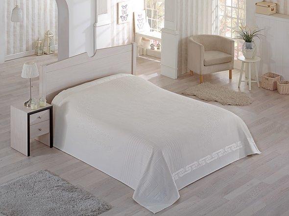 Махровая простынь-покрывало-одеяло Pupilla SORTI махра хлопок (кремовый) 200*220, фото, фотография
