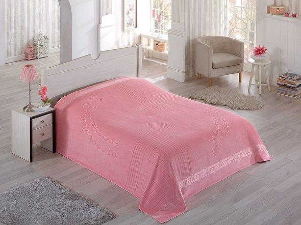 Махровая простынь-покрывало-одеяло Pupilla SORTI махра хлопок (сиреневый) 200*220, фото, фотография