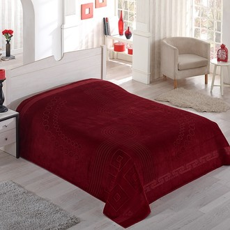 Махровая простынь-покрывало-одеяло Pupilla SORTI махра хлопок (бордовый)