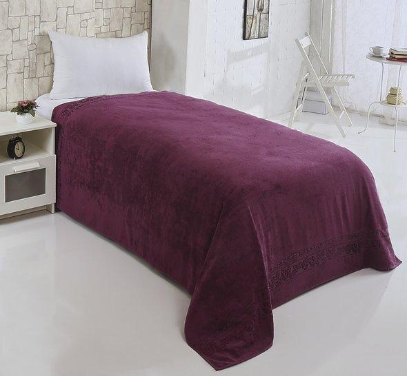 Махровая простынь-покрывало-одеяло Pupilla MODAL SOFT махра бамбук (фиолетовый) 160*220, фото, фотография