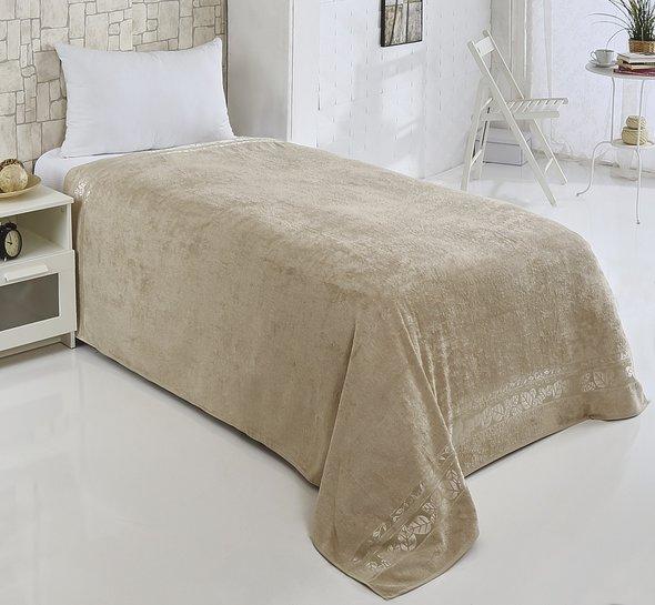 Махровая простынь-покрывало-одеяло Pupilla MODAL SOFT махра бамбук (бежевый) 160*220, фото, фотография