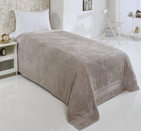 Махровая простынь-покрывало-одеяло Pupilla MODAL SOFT махра бамбук (серый) 160*220, фото, фотография