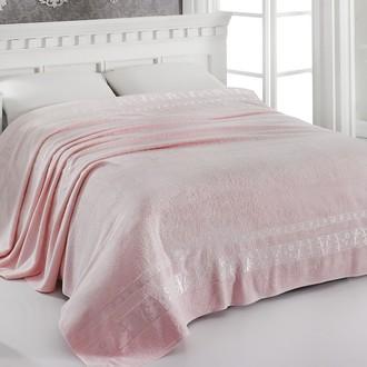 Махровая простынь-одеяло-покрывало Pupilla ELIT махра бамбук розовый