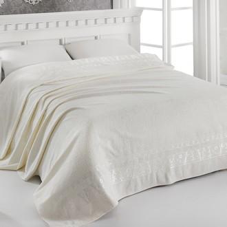 Махровая простынь-одеяло-покрывало Pupilla ELIT махра бамбук кремовый