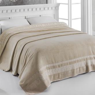 Махровая простынь-одеяло-покрывало Pupilla ELIT махра бамбук бежевый