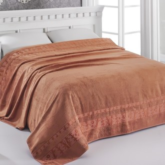 Махровая простынь-одеяло-покрывало Pupilla ELIT махра бамбук (кирпичный)