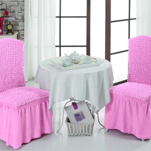 Набор чехлов на стулья 2 шт. Bulsan BURUMCUK светло-розовый