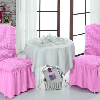 Набор чехлов на стулья (2 шт.) Bulsan BURUMCUK (светло-розовый)