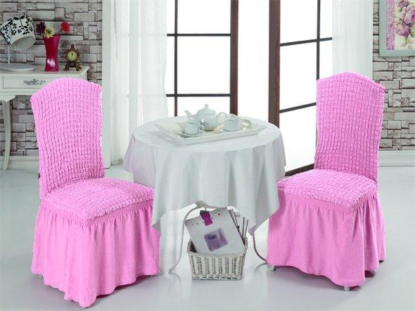 Набор чехлов на стулья (2 шт.) Bulsan BURUMCUK (светло-розовый), фото, фотография