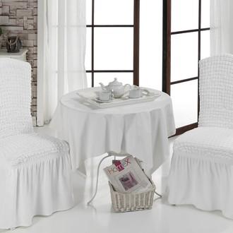 Набор чехлов на стулья (2 шт.) Bulsan BURUMCUK (белый)