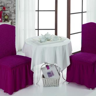 Набор чехлов на стулья (2 шт.) Bulsan BURUMCUK (светло-лавандовый)