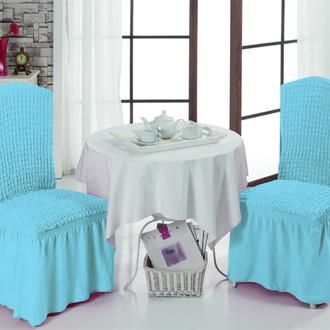 Набор чехлов на стулья (2 шт.) Bulsan BURUMCUK (бирюзовый)