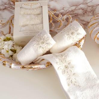 Набор полотенец в подарочной упаковке 30*50(3) Irya COOL махра хлопок (молочный)