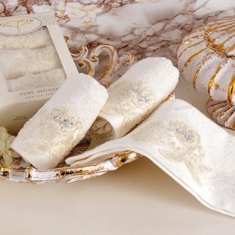 Набор полотенец в подарочной упаковке 30*50(3) Irya SHOW махра хлопок (молочный)