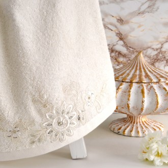 Полотенце банное в подарочной упаковке Irya COOL махра хлопок (молочный)