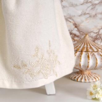 Полотенце банное в подарочной упаковке Irya POTENCY махра хлопок (молочный)