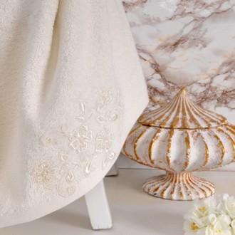 Полотенце банное в подарочной упаковке Irya SWEET махра хлопок (молочный)