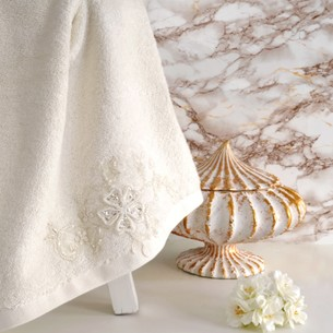 Полотенце банное в подарочной упаковке Irya LOVELY махра хлопок молочный 85х150