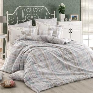 Постельное белье Hobby Home Collection ELENORA хлопковый поплин серый 1,5 спальный
