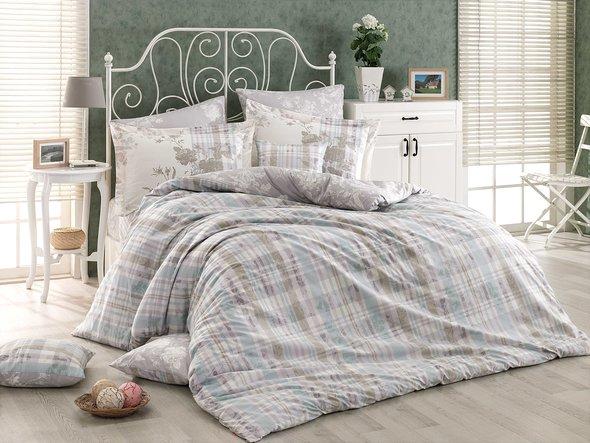 Комплект постельного белья Hobby Home Collection ELENORA хлопковый поплин (серый) 1,5 спальный, фото, фотография