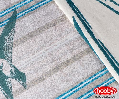 Постельное белье Hobby Home Collection MARINELLA хлопковый поплин бирюзовый 1,5 спальный, фото, фотография