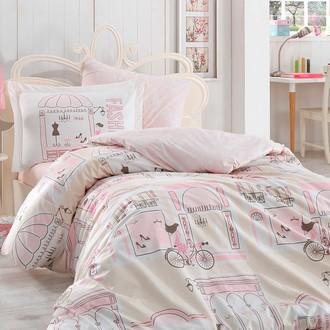 Постельное белье Hobby Home Collection SONIA хлопковый поплин (розовый)