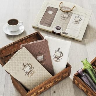 Набор кухонных полотенец в подарочной упаковке 45*65(3) Karna DEVON махра хлопок (V3)