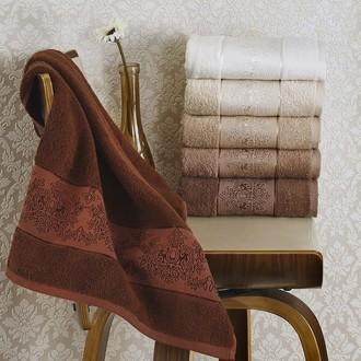 Набор полотенец для ванной (6 шт.) Karna PANDORA-3 махра бамбук