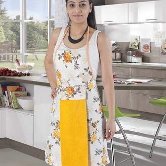Фартук с полотенцем Karna 2595 (жёлтый)