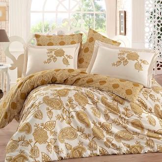 Комплект постельного белья Hobby ANTONIA сатин хлопок (золотой)