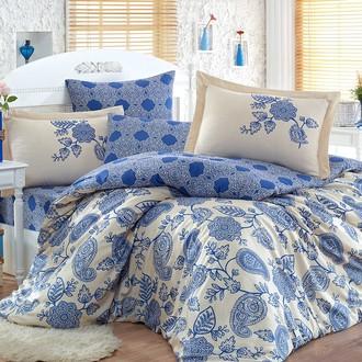 Комплект постельного белья Hobby ANTONIA сатин хлопок (тёмно-синий)