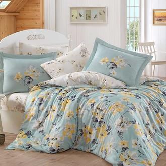 Комплект постельного белья Hobby LAVIDA сатин хлопок (бирюзово-зелёный)