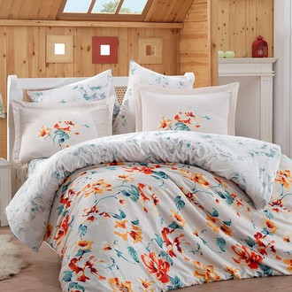 Комплект постельного белья Hobby LAVIDA сатин хлопок (красный)