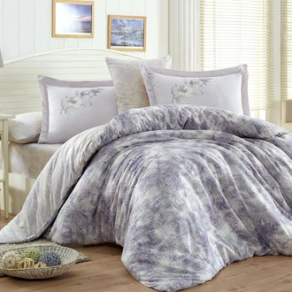 Комплект постельного белья Hobby ROMINA сатин хлопок (лиловый)