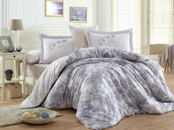 Комплект постельного белья Hobby ROMINA сатин хлопок (лиловый) евро, фото, фотография
