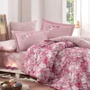 Постельное белье Hobby ROMINA сатин хлопок розовый евро