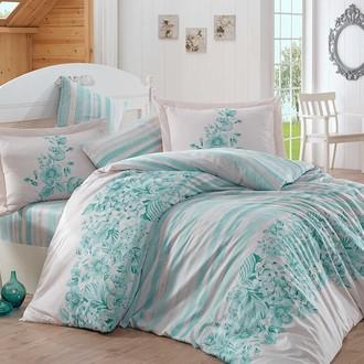 Комплект постельного белья Hobby SERENA сатин хлопок (бирюзовый)